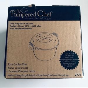 Pampered Chef 2779 3 Quart Rice Cooker Plus Retire
